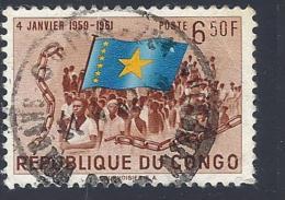 Congo Repubblica, 1961Congolese With National Flag - Mi:CD 46 - Usati