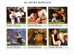 GUINEA BISSAU 2003 - Martial Arts - Mi 2219-24, YT 1276-81