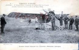 ANGERS Aviation Circuit D'Anjou - 1912 Divetain Et Sa Colombe Monoplan Ladougne - TTBE - 2 SCANS - Angers