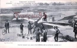 ANGERS Aviation Circuit D'Anjou - 1912 Hanriot Et Plein D'automobiline Avion  - TTBE - 2 SCANS - Angers