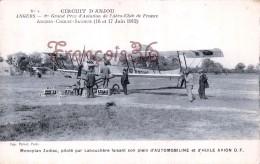 ANGERS Aviation Circuit D'Anjou - Avion Monoplan Zodiac Par Labouchère & Automobiline  - TTBE - 2 SCANS - Angers