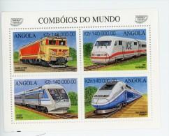 Angola 1997-Trains éléctriques-YT 1067/70***MNH