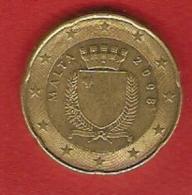 Malta 2008 - 20 Cents - Armoirie - Malta