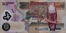 ZAMBIA 1000 KWACHA 2012 P-44i UNC RARE [ ZM146i ] - Sambia