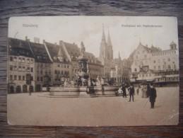 58H. Nurnberg  Marktplatz Mit Neptunbrunnen. - Nuernberg
