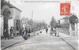 """94 - LIMEIL-BREVANNES - Ed. ELD -  Boulevard De Brévannes Avec Animation - Restaurant """" Au Robinson De ..."""" Circulé - - Limeil Brevannes"""