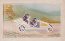 CPA Gaufrée Voiture Ancienne Automobile Véhicule Embossed Illustrateur - Cartoline
