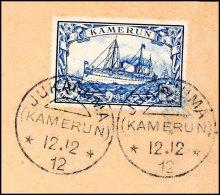 JUKADUMA 12.12 12 Klar Abgeschlagen Auf Briefstück Mit 2 Mark (Ersttag Laut ArGe-Liste) ArGe 160,-, Katalog:...
