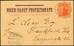 Kamerun 1902, Britische 1-d-Ganzsachenkarte Mit Aufdruck Niger Coast Protectorate, Rückseitig Einzeiliger...