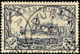 3 Mark Kaiseryacht Tadellos Gestempelt, Gepr. Jäschke-L. BPP, Mi. 140,-, Katalog: 18 O3 Mark Imperial...