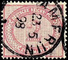 """2 Mark Mit Plattenfehler II, Gestempelt KAMERUN 23 5 98. Fotobefund Brekenfeld BPP: """"Die Briefmarke Ist Farbfrisch,..."""