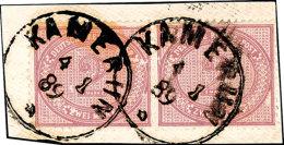 2 Mark Mittelrosalila, Waag. Paar Mit Zwei Vollen Stempeln KAMERUN 4 1 89 (mit Jahreszahl!!), Fotoattest Steuer...