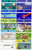 10 Télécartes Usagées Différentes. (CT1) - Belgique