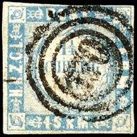 """1¼ Sch. Ultramarin, Vollrandig, Dän. 3-Ring """"170"""", Kabinett, Gepr. Möller BPP, Mi. 80,-, Katalog:..."""
