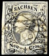 """188 - """"MEHLTEUER"""", Klar Auf 1/2 Ngr. Johann (Mängel), Seltener Stempel, Fotokurzbefund Vaatz BPP (2016)..."""