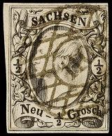 """""""110"""" (kleine Ziffern) - AUE BAHNHOF, Klar Auf 1/2 Ngr. Johann, Rechts Oben Leicht Angeschnitten, Sonst..."""