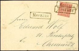 MEERANE, Schwarzer R1 Auf Brief Mit 1 Gr. NDP 3mal Klar Abgeschlagen U. Auf Postkarte, Frankiert Mit 1/2 Gr....