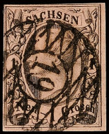 """""""19"""" - Meissen, Klar Und Zentrisch Auf Tadelloser 1 Ngr. König Johann I. In A-Farbe In Type II, Bestens Gepr...."""