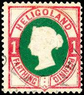1 Pfg. Lilakarmin/dunkelgrün, Gestempelt, Repariert, Signiert Lemberger, Fotobefund Estelmann BPP, Mi. 900,-...
