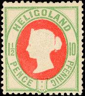 1 1/2 P / 10 Pf In D-Farbe Tadellos Ungebraucht Ohne Gummi, Gepr. Lemberger BPP, Mi. 80.-, Katalog: 14d OG1 + P...