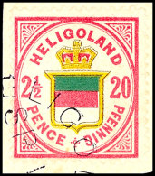 2 1/2 P / 20 Pfg Hellrosalila/graugelb/graugrün, Farbfrisches Kabinettstück, Klar  Gestempelt Mit...