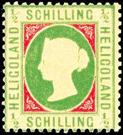 1/2 S. Lebhaftbläulichgrün/ Karmin, Ungebraucht, Tadellos, U.a. Signiert Estelmann BPP, Mi. 150,-,...