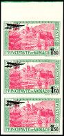 """1,50 Fr. Auf 5 Fr. """"Bauwerke"""", Flugpostmarke 1933, Abart """"ungezähnt"""", Senkrechter Dreierstreifen Vom Oberrand..."""