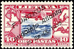 """40 C. """"Atlantikflug"""", Tadellos Postfrisch, Auflage Nur 2.100 Exemplare, Fotoattest Nagler VP (2016): """"echt Und..."""