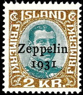"""30 A. Bis 2 Kr. """"Inslandfahrt Des Luftschiffs Graf Zeppelin"""", Flugpost-Ausgabe 1931, Tadellos Postfrisch, Auflage..."""