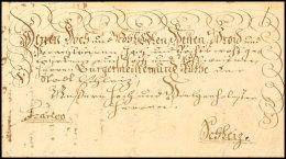 """""""Plauen 17. Januar 1753"""", Herrlicher Schnörkelbrief Mit Siebenzeiliger Ergebenheitsanschrift Nebst Vermerk..."""
