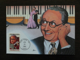 United States, USA, 1985, Fleetwood Cachet Maximum Card, Jerome Kern Composer Musicals