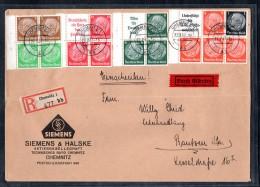 DR, Eingeschriebener Eilboten-Brief Mit Versch. Zusammendrucken - Deutschland