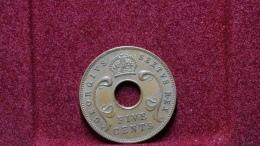 East Africa 5 Cents 1949 Km#33. - Colonia Britannica