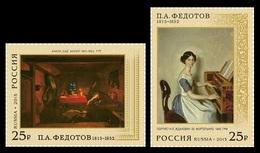 * Russia 2015 Mi. 2183/2184 Painting Pavel Fedotov MNH **