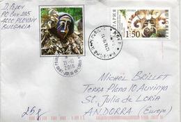 Patrimoine Mondial Immatériel De L'UNESCO, Festival De Masques Surova /Bulgarie, Sur Lettre Adressée ANDORRA