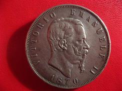 Italie - 5 Lire Vittorio Emanuele II 1870 R Rome IMG_2405 - 1861-1878 : Victor Emmanuel II