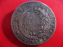 Italie - Gaule Subalpine - 5 Francs An 10 2331 - Monedas Regionales