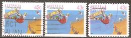 Australie - 1990 - Planche à Roulette - YT 1181, 1181a Et 1190 Oblitérés