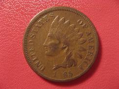 Etats-Unis - USA - One Cent Indian Head 1865 - Coin Bouché Sur Le 8 7430 - 1859-1909: Indian Head