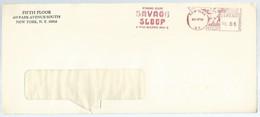EMA AFS METER STAMP FREISTEMPEL - Famous Writer Millen Brand, SAVAGES SLEEP Book New York 1968 - Writers