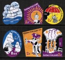 2011 Finland, Moomins, Complete Set Used.