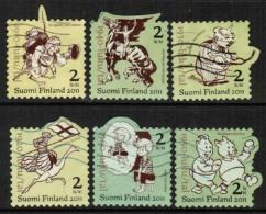 2011 Finland, Finnish Comics Centenary, Complete Set Used.