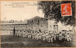 CPA, Billom, Ecole Militaire, Gymnastique. - Clermont Ferrand