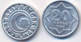 Azerbaijan 1993 20 Qapik XF Coin Aliuminum KM#3a - Azerbaïdjan