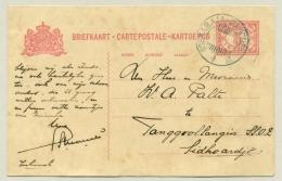 Nederlands Indië - 1915 - KB Treinstempel Soerabaja-Bandoeng/B Op Briefkaart Naar Sidoardjo - Nederlands-Indië