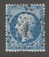 FRANCE - N°YT 22 OBLITERE ETOILE DE PARIS 1 - COTE YT : 1€ - 1862