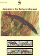 Amphibien WWF-Set 85 CSSR 3007/0 ** 5€ Naturschutz Unke Molch Dokumentation 1989 Wildlife Stamps Of Tschechoslowakei/CSR - W.W.F.