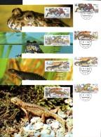 CSR WWF-Set 85 Amphibien Tschechoslowakei 3007/0 **/FDC/MC 29€ Naturschutz Molch Dokumentation 1989 Fauna Stamps Of CSSR - W.W.F.