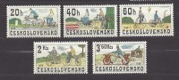Czechoslovakia Tschechoslowakei 1979 MNH **Mi 2522-2526 Sc 2255-2259 Historical Bicycles, Historische Fahrräder.