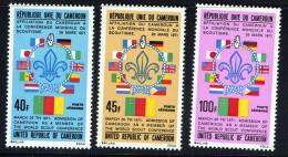 1971  1973  Affiliation Du Cameroun à La Conférence Mondiale Du Scoutisme  Série Complète  ** - Cameroon (1960-...)